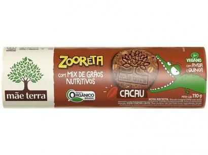 Biscoito sem Recheio Cacau Integral - Zooreta Mãe Terra 110g