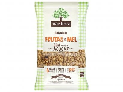 Granola Mãe Terra Integral Sem Açúcar - Frutas e Mel 800g