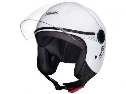 Capacete de Moto Aberto Taurus - JOY23 Branco Tamanho 56