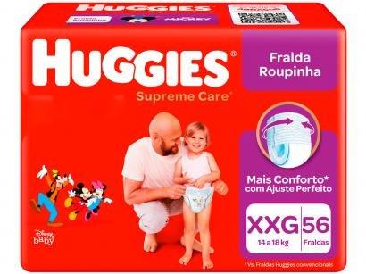 Fralda Huggies Supreme Care Roupinha Calça - Tam. XXG Mais de 14kg 56 Unidades