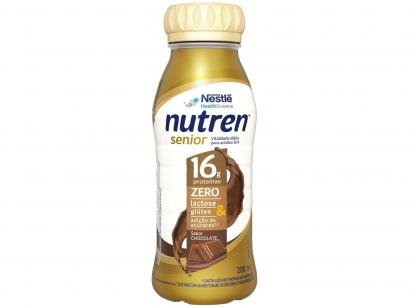 Suplemento Alimentar Adulto Nutren Chocolate - Senior sem Lactose Zero Açúcar 200ml