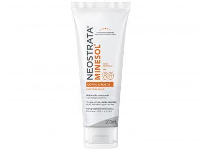 Protetor Solar Facial e Corporal Minesol FPS 99 - Corpo & Rosto 200ml