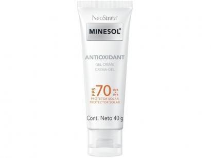 Protetor Solar Facial Minesol FPS 70 Antioxidant - 40g