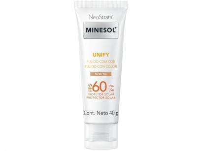 Protetor Solar Facial Minesol FPS 60 Morena Unify - Fluido com Cor 40g