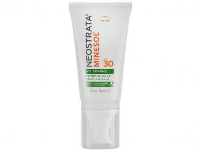 Protetor Solar Facial Minesol FPS 30 Oil Control - Sérum Textura Invisível 40g