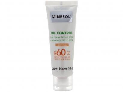 Protetor Solar Facial Minesol FPS 60 Oil Control - com Cor Universal 40g