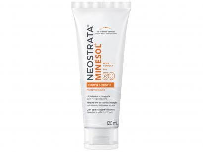 Protetor Solar Facial e Corporal Minesol FPS 30 - Corpo & Rosto 120ml