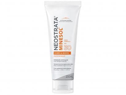 Protetor Solar Facial e Corporal Minesol FPS 30 - Corpo & Rosto 200ml