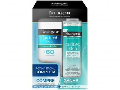 Kit Protetor Solar Facial FPS 60 e Água Micelar - Promopack Neutrogena