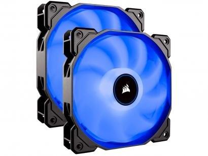 Cooler FAN Intel AMD LED Azul Corsair - Air Series AF140 LED 2 Unidades