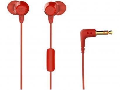 Fone de Ouvido JBL C50HI Intra-auricular - com Microfone Vermelho