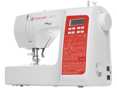 Máquina de Costura Singer SC220 RD Portátil - Eletrônica 200 Pontos