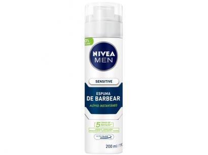 Espuma de Barbear Nivea Men Sensitive - 200ml