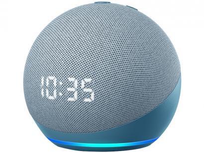 Echo Dot 4ª Geração com Relógio com Alexa - Amazon
