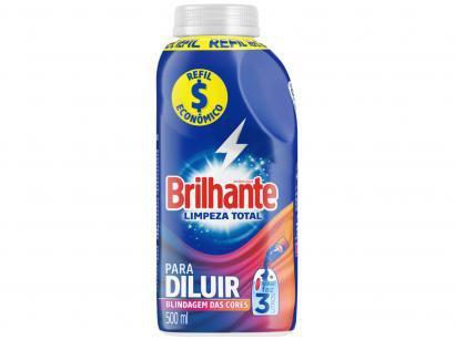 Sabão Líquido Concentrado Brilhante Limpeza Total - Refil 500ml