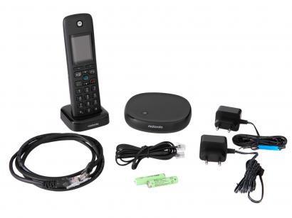 Telefone sem Fio Motorola AXH01 Identificador de - Chamada Secretária Eletrônica Wi-Fi