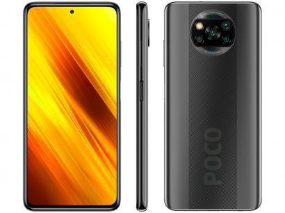 "Smartphone Xiaomi Poco X3 NFC 64GB Cinza Octa-Core - 6GB RAM Tela 6,67"" Câm. Quádrupla + Selfie 20MP"