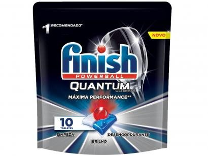 Detergente em Tabletes Lava-Louças Finish - Powerball Quantum Ultimate 125g 10 Unidades