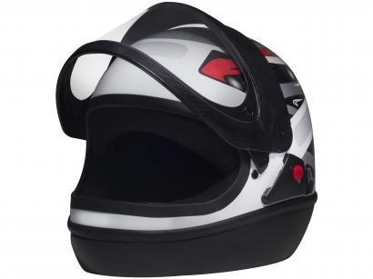 Capacete de Moto Fechado San Marino - GRAFIC Branco Tamanho 56