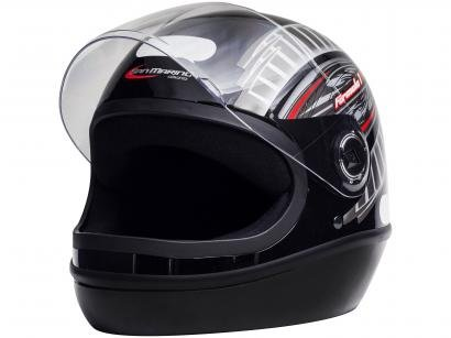 Capacete de Moto Fechado Taurus Fórmula 1 - Grafic Preto Tamanho 58