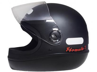 Capacete de Moto Fechado Taurus Fórmula 1 - Classic Preto Fosco Tamanho 60