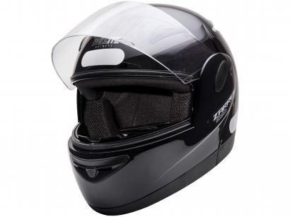 Capacete de Moto Fechado Taurus Zarref - V4 CLASSIC Preto Tamanho 60