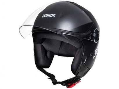 Capacete de Moto Aberto Taurus San Marino - JOY23 Preto Fosco Tamanho 58