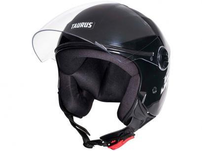 Capacete de Moto Aberto Taurus San Marino - JOY23 Preto Tamanho 60