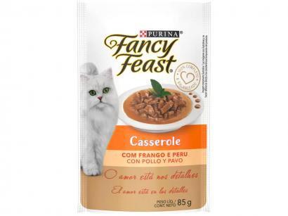 Ração Úmida para Gato Adulto Sachê Fancy Feast - Casserole Frango e Peru 85g