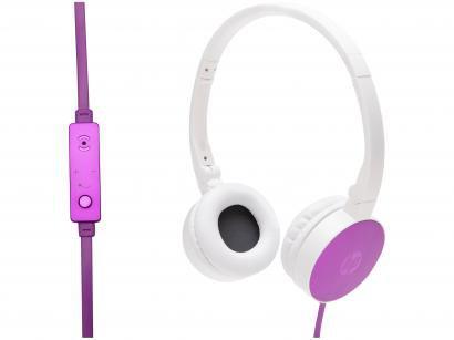 Headphone HP H2800 Cardinal com Microfone Roxo