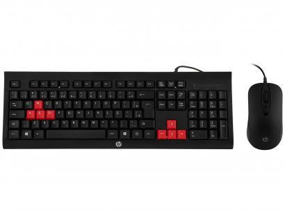 Kit Teclado e Mouse Gamer HP KM100