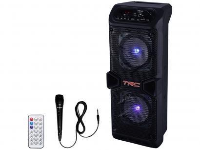 Caixa de Som TRC 5506 Bluetooth Amplificada 60W - com Microfone USB com Tweeter