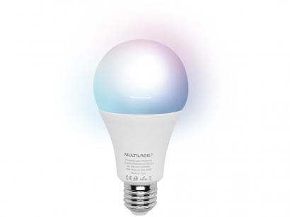 Lâmpada Inteligente Multilaser E27 RGB - Dimerizável 10W Wi-Fi compatível com Alexa