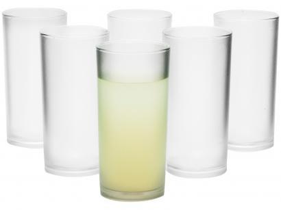 Jogo de Copos Transparente 300ml 6 Peças - VemPlast Long Drink