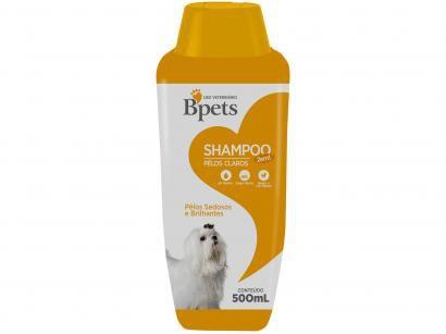 Shampoo Cachorro e Gato Bpets Pelos Claros 2 em 1 - 500ml