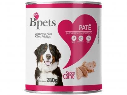 Ração Úmida para Cachorro Adulto Lata - Bpets Patê Carne 280g