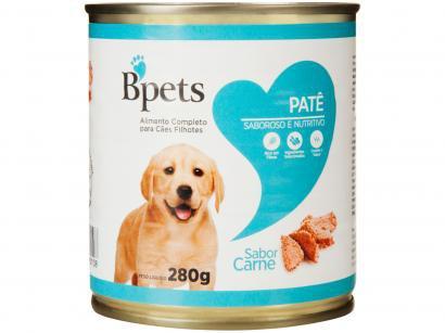 Ração Úmida para Cachorro Filhote Lata Bpets - Patê Carne 280g