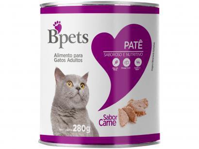 Ração Úmida para Gato Adulto Lata Bpets Patê - Carne 280g