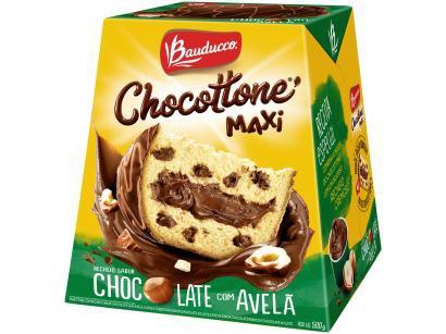 Chocotone Chocolate com Avelã Bauducco Maxi - 500g