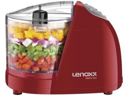 Mini Processador de Alimentos Lenoxx Vermelho - Pratic Red PMP435 100W