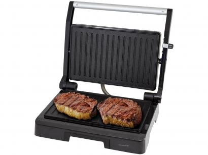 Grill Philco PGR07P Press Diamante Retangular - 1000W Antiaderente com Coletor de Gordura