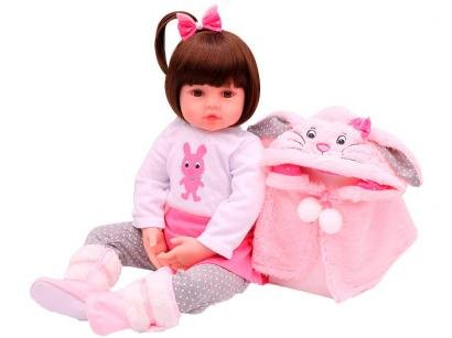 Boneca Reborn Sarah 45cm com Acessórios - Laura Baby