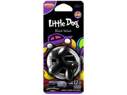 Odorizador Automotivo Plástico Injetado Luxcar - Little Dog Black Velvet