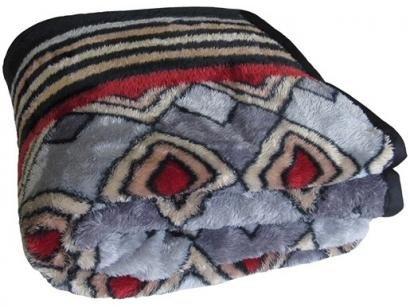 Cobertor Casal Jolitex Microfibra 100% Poliéster - Dyuri Orinoco Cinza