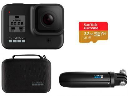 Kit GoPro HERO8 Black Essencial Cartão de 32GB - Shorty