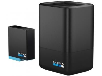 Carregador de Bateria Duplo para GoPro AJDBD-001 - com Bateria e Cabo Original