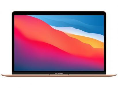 "Macbook Air 13,3"" Apple M1 8GB - 256GB SSD Dourado"