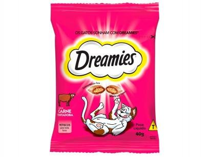 Petisco para Gatos Adulto Dreamies Carne Tentadora - 40g