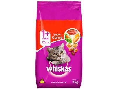 Ração para Gato Premium Whiskas Carne Adulto - 3kg