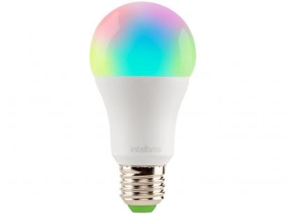 Lâmpada Inteligente Bulbo Intelbras E27 RGB - Dimerizável 10W 2700K, 6500K Izy EWS 410